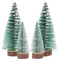 FENICAL Mini Weihnachtsbaum Künstlicher Weihnachtsbaum Christbaum Grün Tannenbaum künstliche Tanne 6pcs