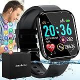 Amokeoo Smart Watch,Fitness Watch Activity Tracker with Heart Rate Blood Pressure Monitor IP67 Waterproof Bluetooth Smartwatc