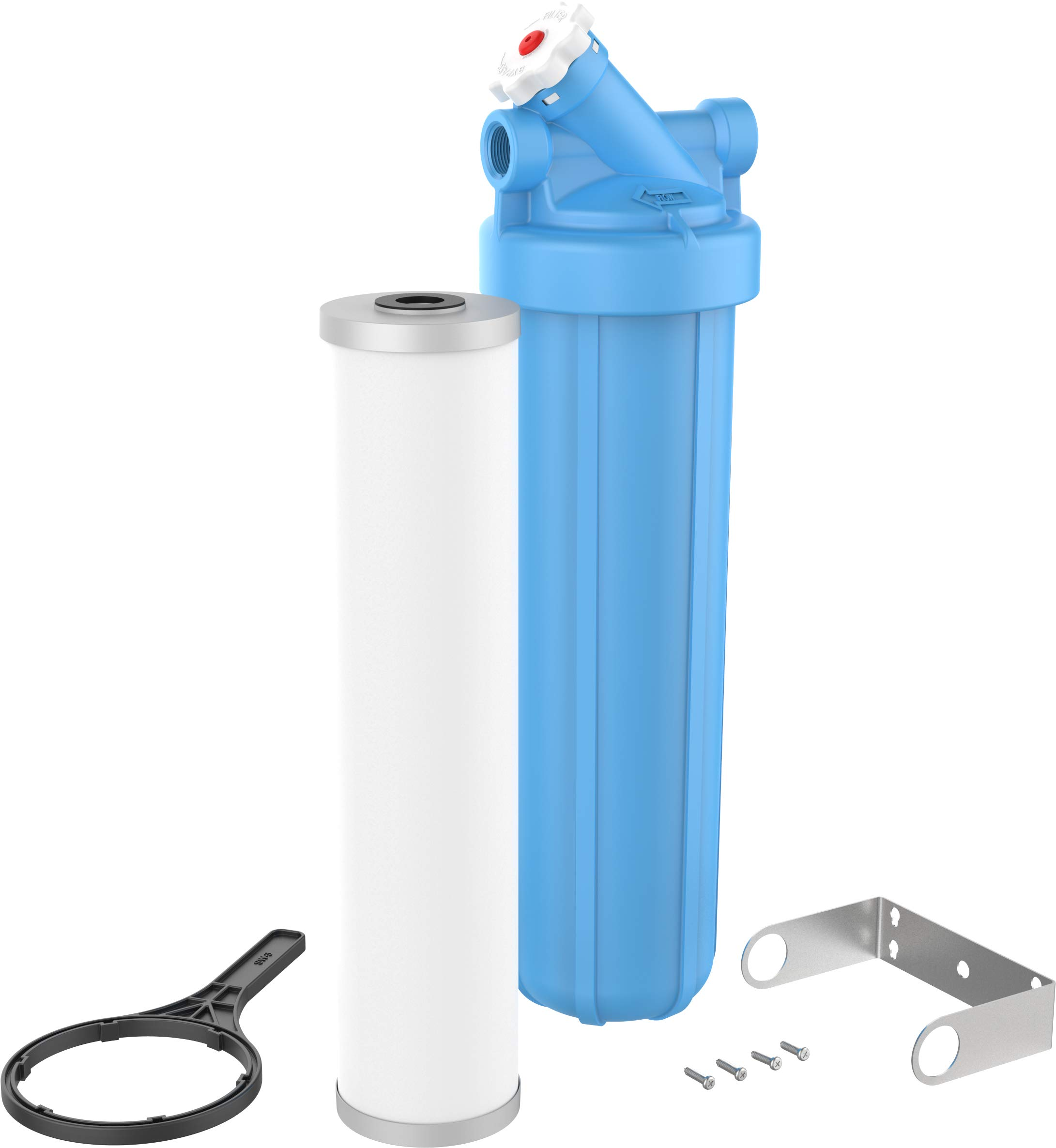 OMNIFilter PB55-S-S18 Heavy Duty 20'', Lead and Cyst Water Filter System with PB55-20-SC-S18 0.5 Micron Cartridge, Blue by OMNIFilter