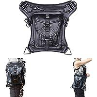 Cyber Deal Monday Deals Steampunk Leather Crossbody Shoulder Tote Handbag Messenger Gothic Waist Bag Fanny Pack…