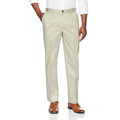 Brand - Buttoned Down Men's Relaxed Fit Pleated Non-Iron Dress Chino Pant: Clothing