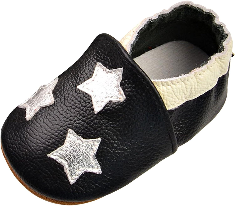 Chic-Chic Chaussures B/éb/é en Cuir Souple Chaussons B/éb/é Chaussures Premiers Pas B/éb/é Gar/çon Fille Nourrisson /Étoile 6-12mois