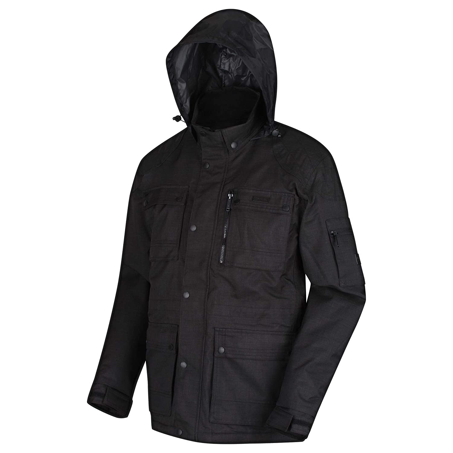 Regatta Mens Erving Waterproof /& Breathable Thermo-guard Insulated Concealed Hooded Jacket Waterproof