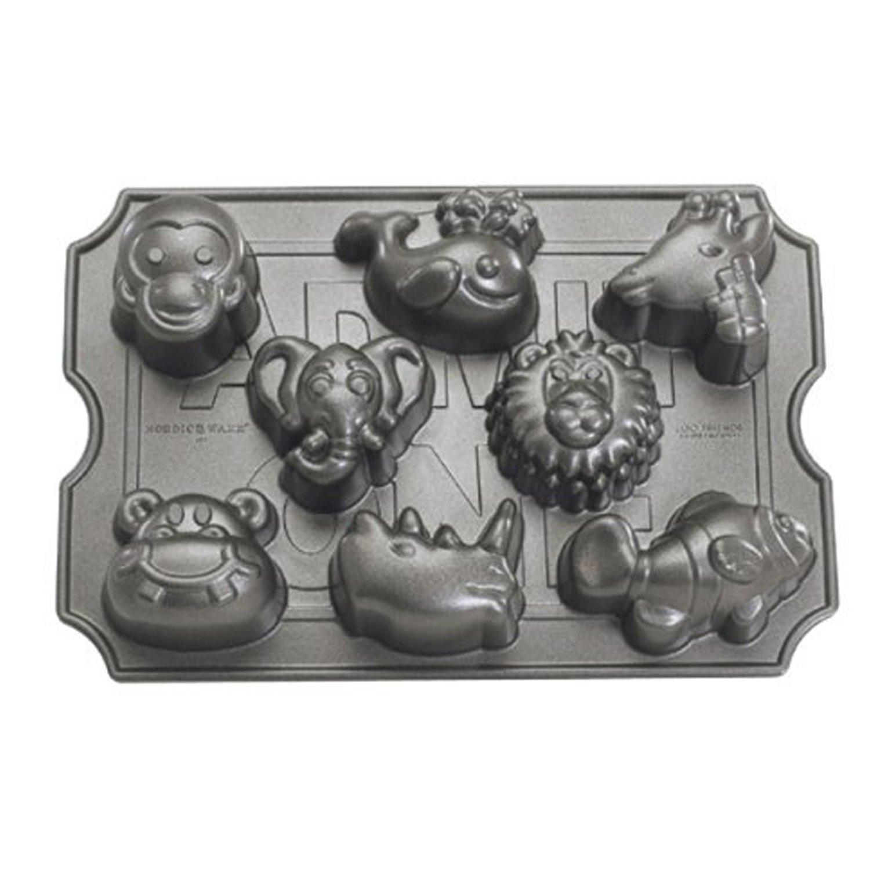 Nordic Ware Pro Cast Zoo Animal Muffin Pan