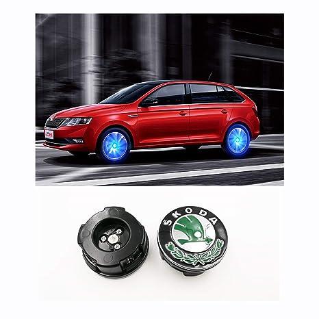 LFOTPP - Tapacubos magnético para Karoq Kodiaq Octavia Superb (4 x 56 mm), Color Verde: Amazon.es: Coche y moto