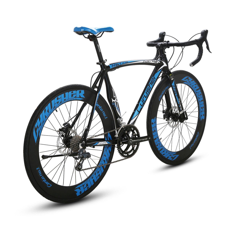 Cyrusher XC700 Road Bicycle Shinano 2400 Aluminium Frame 54 56cm 700C 70MM Mens Road Bike 16 Speeds Mechanical Disc Brakes