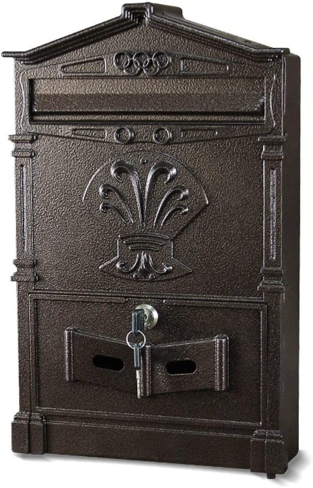NEW LARGE RETRO POST BOX POSTBOX LOCKABLE OUTSIDE LETTER MAIL WALL MOUNTED AH