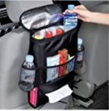 KAFEEK Car Seat Organizer/Auto Seat Back Organizer/Multi-Pocket Travel Storage Bag/Insulated Car Seat Back Drinks Holder Cooler / Storage Bag Cool Wrap Bottle Bag with Mesh Pockets(Heat-Preservation)