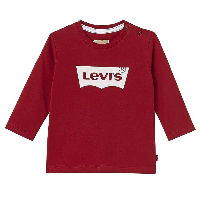 Levis N91003H-Camiseta Bebé-Niños Rojo (Red 03) 1 Año (Talla