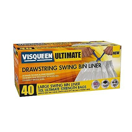 Visqueen Ultimate cordón Swing basura 50l, 40 unidades ...