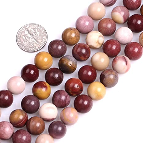 15inch Strand Natural Mookaite Round Loose Beads Jewelry Making Findings