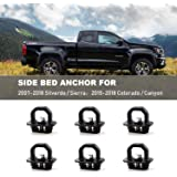 KanSmart Bed Tie Down Anchors Hooks Compatible with 2014 2015 2016 2017 2018 2019 2020 Chevy Silverado//GMC Sierra 1500 2500 3500 Replacement for 2015-2020 Chevy Colorado//GMC Canyon 2Pcs