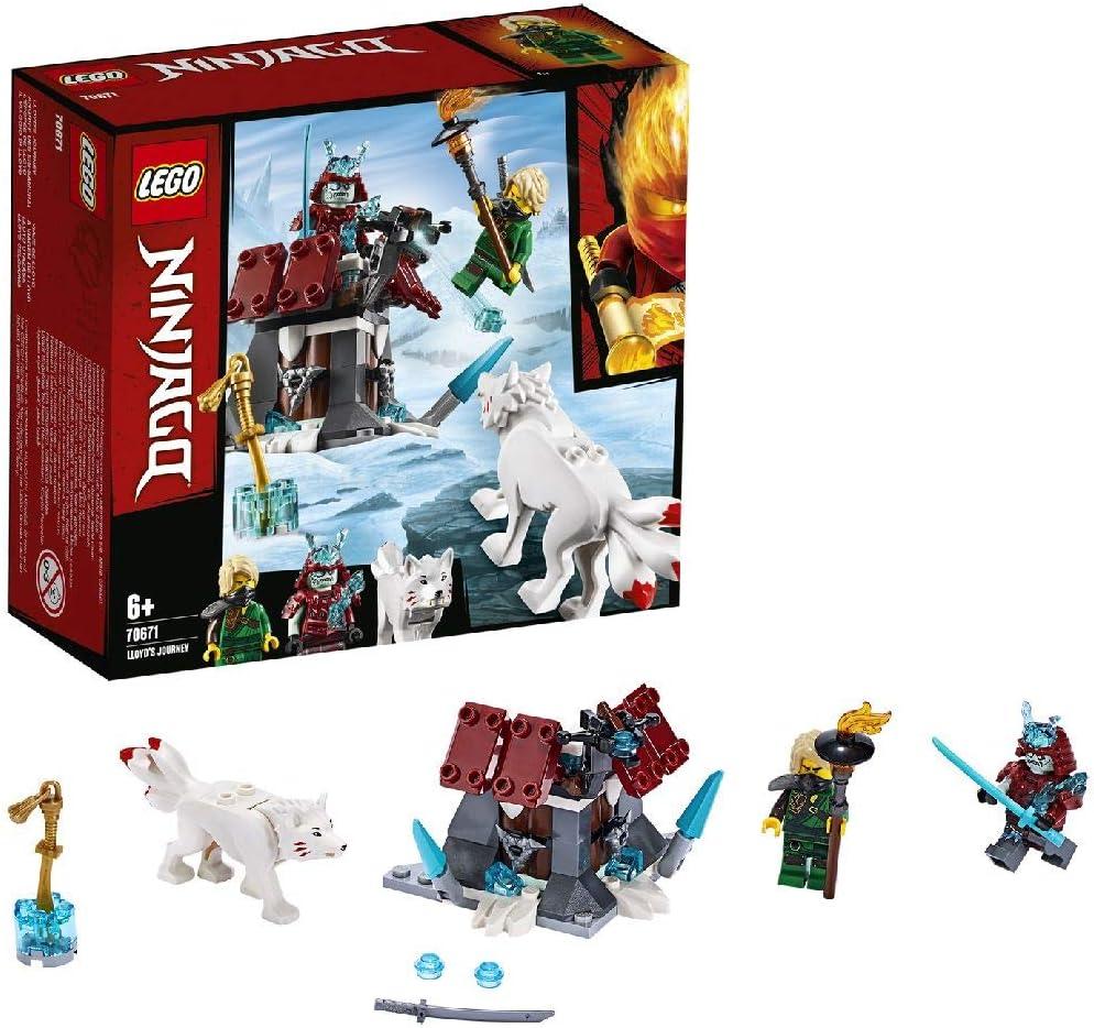 LEGO Ninjago - Viaje de Lloyd Juego de Construcción de Aventuras Ninja, incluye Lobo de Juguete, Novedad 2019 (70671)