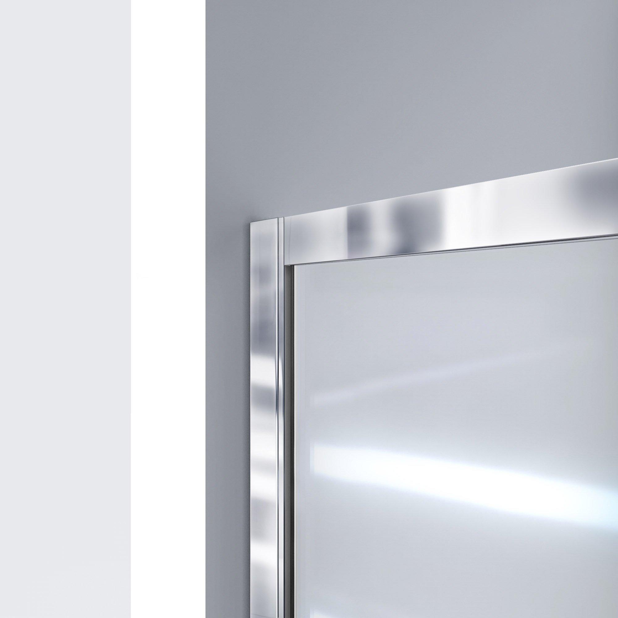 DreamLine Infinity-Z 50-54 in. W x 72 in. H Semi-Frameless Sliding Shower Door, Clear Glass in Brushed Nickel, SHDR-0954720-04 by DreamLine (Image #6)