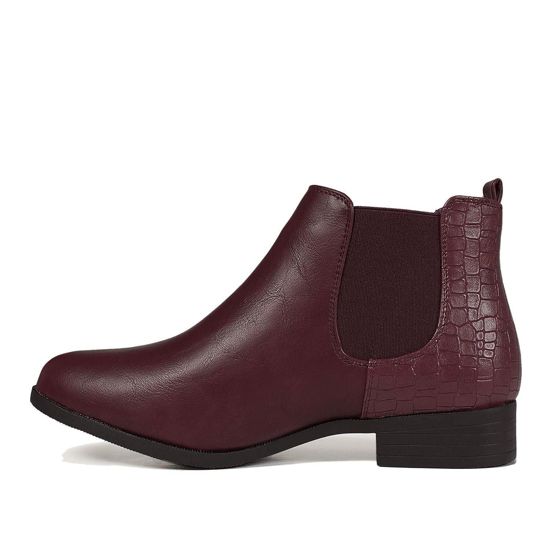 f0735b10d1ff9 Mayline Talon Plat Bas pour Dames Bottines Cheville A Enfiler Bottes Simili  Cuir Daim Chaussures Pointure  Amazon.fr  Chaussures et Sacs