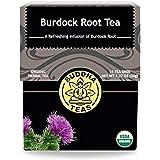 Organic Burdock Root Tea - Kosher, Caffeine-Free, GMO-Free - 18 Bleach-Free Tea Bags