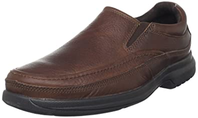 Rockport Men's BL Moc Slip-On Casual Loafer- Dark Tan-6.5 W