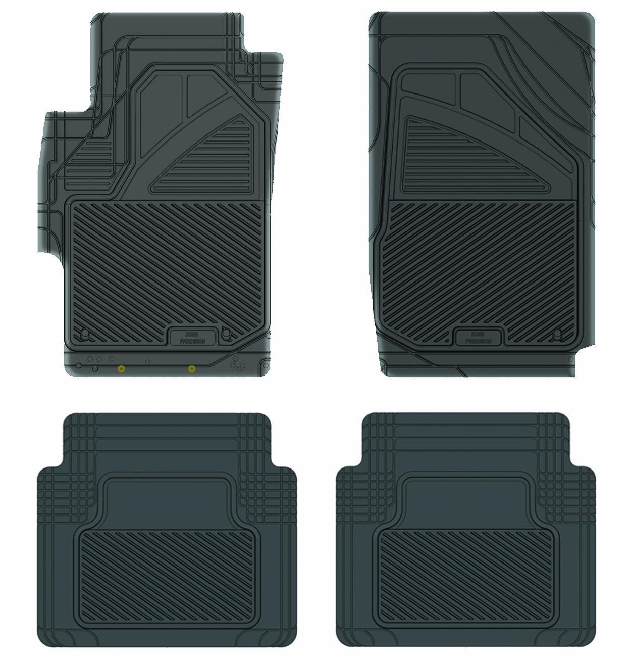 Black Koolatron Pants Saver Custom Fit 4 Piece All Weather Car Mat for Select Honda Accord Models 17301