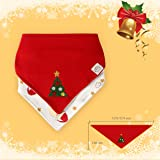 Christmas Baby Bandana Bib Soft Absorbent Cute Baby Bibs for Teething Drooling, Perfect Baby Shower Gift Set by Little Dimsum