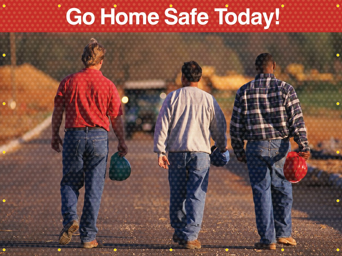 Go Home Safe Today Front//Red Back Accuform PWD130RD Translucent Vinyl Welding Screen 6 x 8