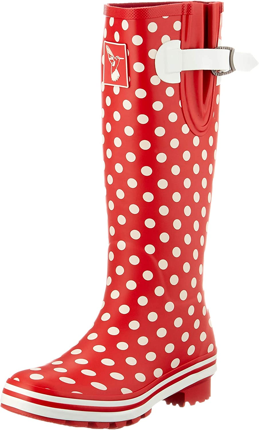 Evercreatures Rain Boots for Women Waterproof Boots Garden Shoes Outdoor Use with Comfortable Insole Knee High Rubber Rain Boot Gumboots Rain Footwear Wellies