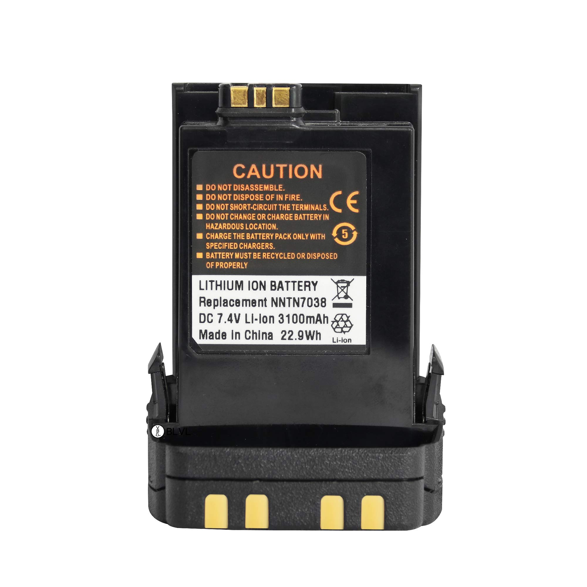 BLVL NNTN7038 3100 mAh Li-ion Replacement Battery for Motorola APX7000 APX6000 APX8000 and SRX2200 Radio by BLVL