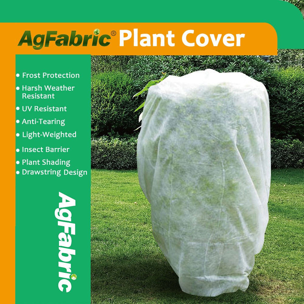 Agfabric Warm Worth Frost Blanket - 1.5 oz Fabric of 72''Hx72''W Shrub Jacket, Rectangle Plant Cover for Frost Protection,12 pack