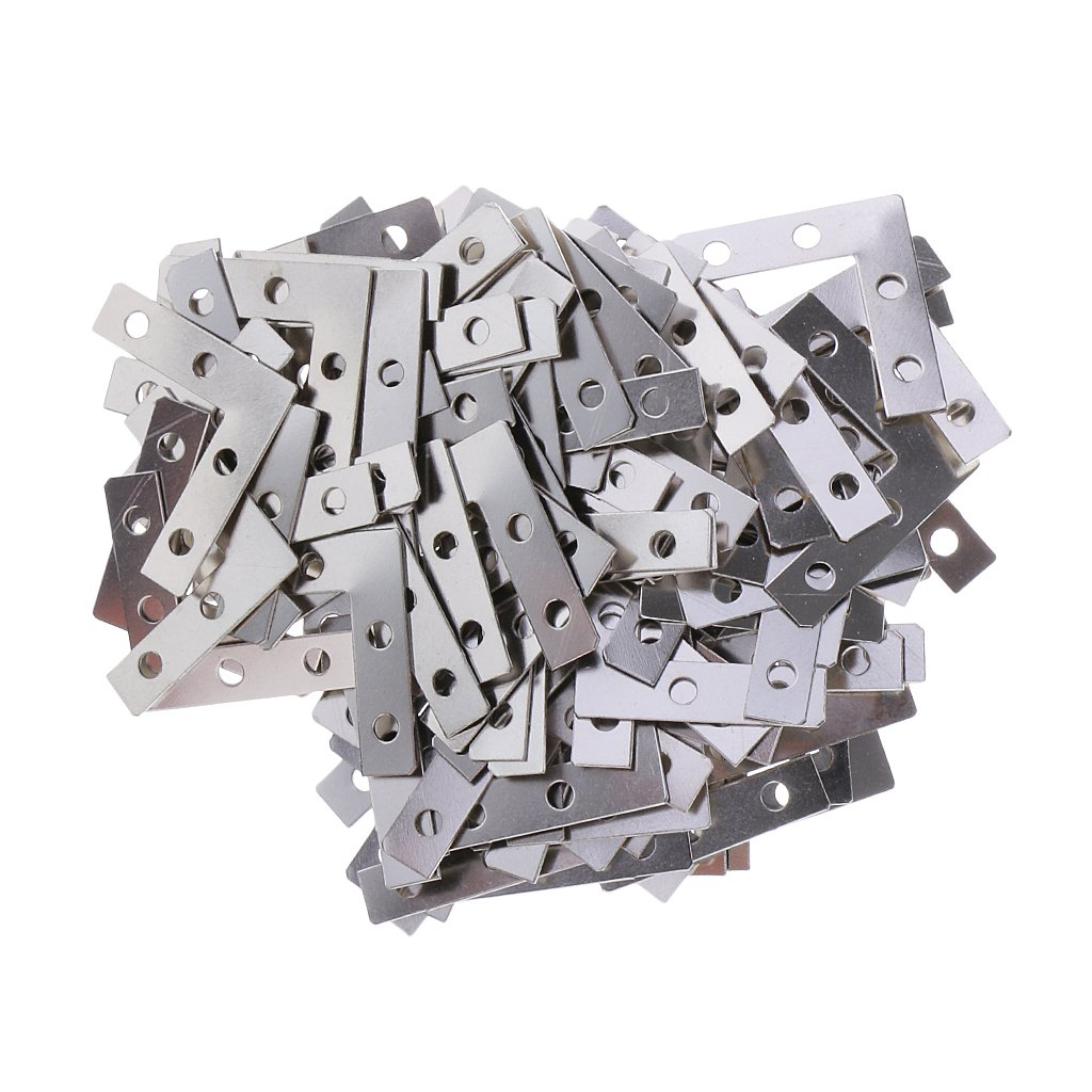 Sharplace 100 Stücke Metall Flachverbinder Holzverbinder Lochplatte ...