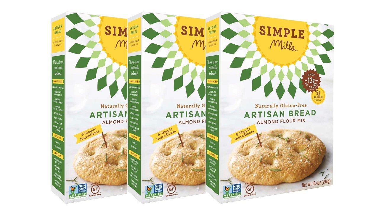 Simple Mills Almond Flour Mix, Artisan Bread, 10.4 Ounce, Pack of 3 by Simple Mills