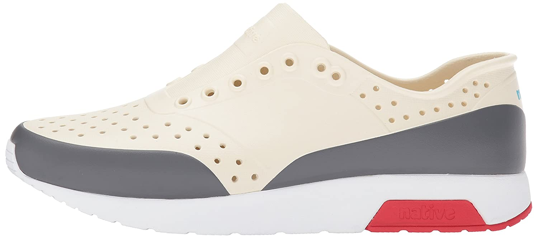 native Men's Lennox Water (7 Shoe B01MS72H33 5 Men's (7 Water B US Women's) M US|Bone White/Shell White/Torch Red/Dublin Block 6f6b37