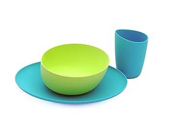 Zoë b Organic Fantastic Anti-Plastic Dishes Set Turquoise/Lime (Discontinued by  sc 1 st  Amazon.com & Amazon.com : Zoë b Organic Fantastic Anti-Plastic Dishes Set ...