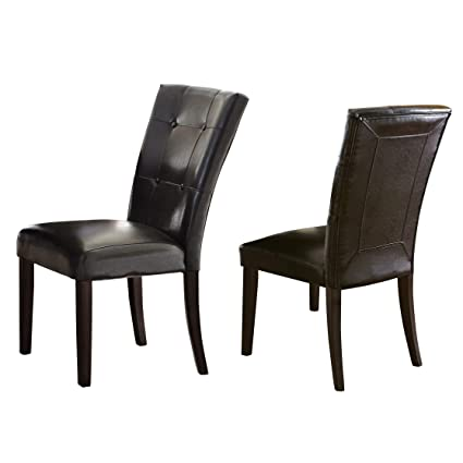 Pleasing Amazon Com Greyson Living Malone Faux Leather Parsons Beatyapartments Chair Design Images Beatyapartmentscom