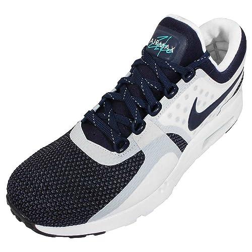pretty nice e8518 90a1a Nike Air Max Zero QS White/Rift Blue/Hyper Jade/Midnight Navy Synthetic
