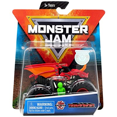 MJ Monster Jam 1:64 Dragonoid with Figure: Toys & Games