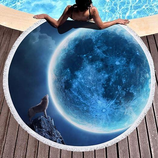 WENXIAOXU Toalla de Playa de Secado rápido, Toalla sin Arena para Viajes, Nadar, Playa y Piscina,Agujero Negro 18 150 * 150 cm: Amazon.es: Hogar
