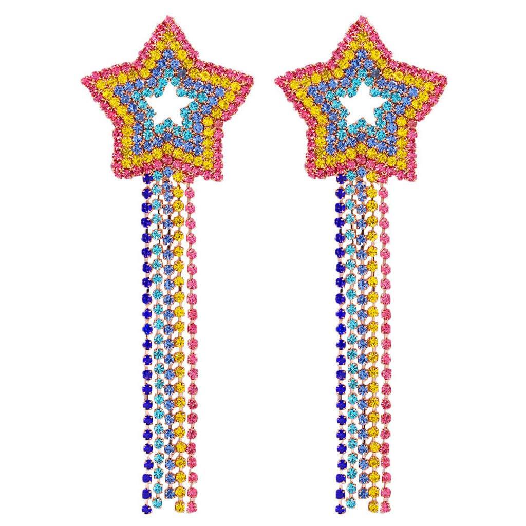Orecchini con Cristalli Arcobaleno con Strass Colorati Ninbo