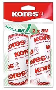 Kores - Rollos de recambio para rodillo quitapelusas (2 x 8 m), color rojo