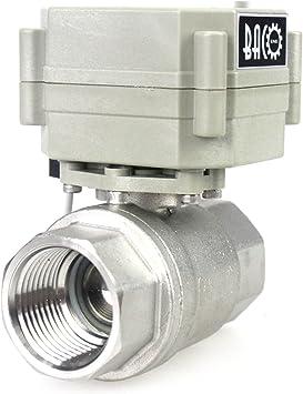 BACOENG 1 DN25 V/álvula Motorizada de Esfera de 2 V/ías de Acero Inoxidable de AC110//230V CR202 normalmente abierto