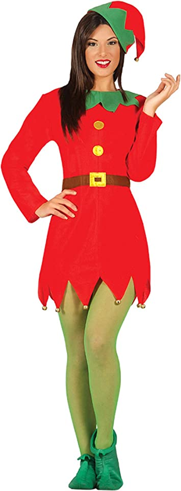Guirca Rudy bañador de Mujer Adulta elfa Talla M, Color Rojo y ...