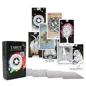 78 Piezas Inglés Cartas del Tarot Juego de Cartas Con Caja Juegos de Mesa(Witches Tarot)