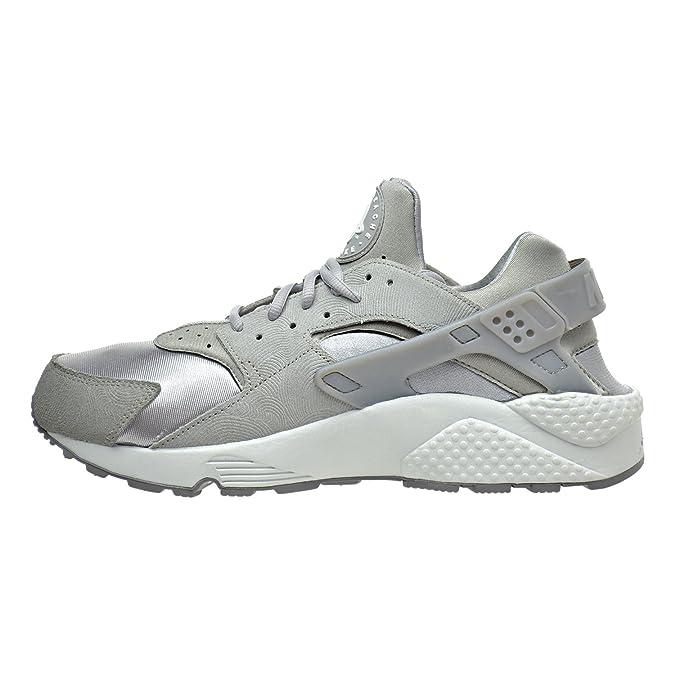 newest collection a4420 6e551 Amazon.com   Nike Air Huarache Run PRM Suede Womens Shoes Medium Grey Off  White 833145-002 (11.5 B(M) US)   Road Running