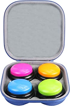 co2CREA Duro Viajar Caja Estuche Funda para Learning Resources Botones / Botones luz y Sonido / Botones Sonidos de la Granja / Botones grabables (Blue) (Caja Solo): Amazon.es: Juguetes y juegos