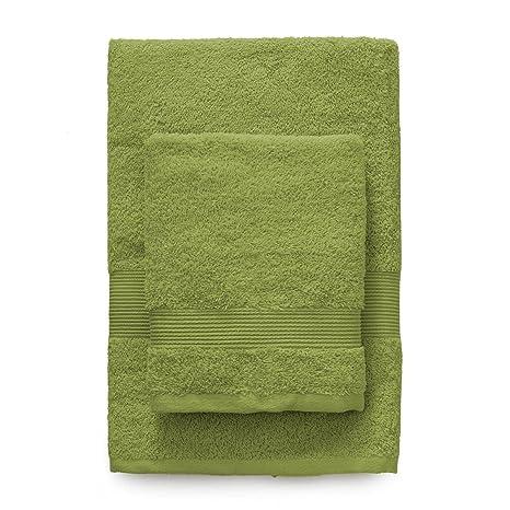 Zucchi - Juego de toallas confeccionadas en tela de rizo de algodón - Juego compuesto por