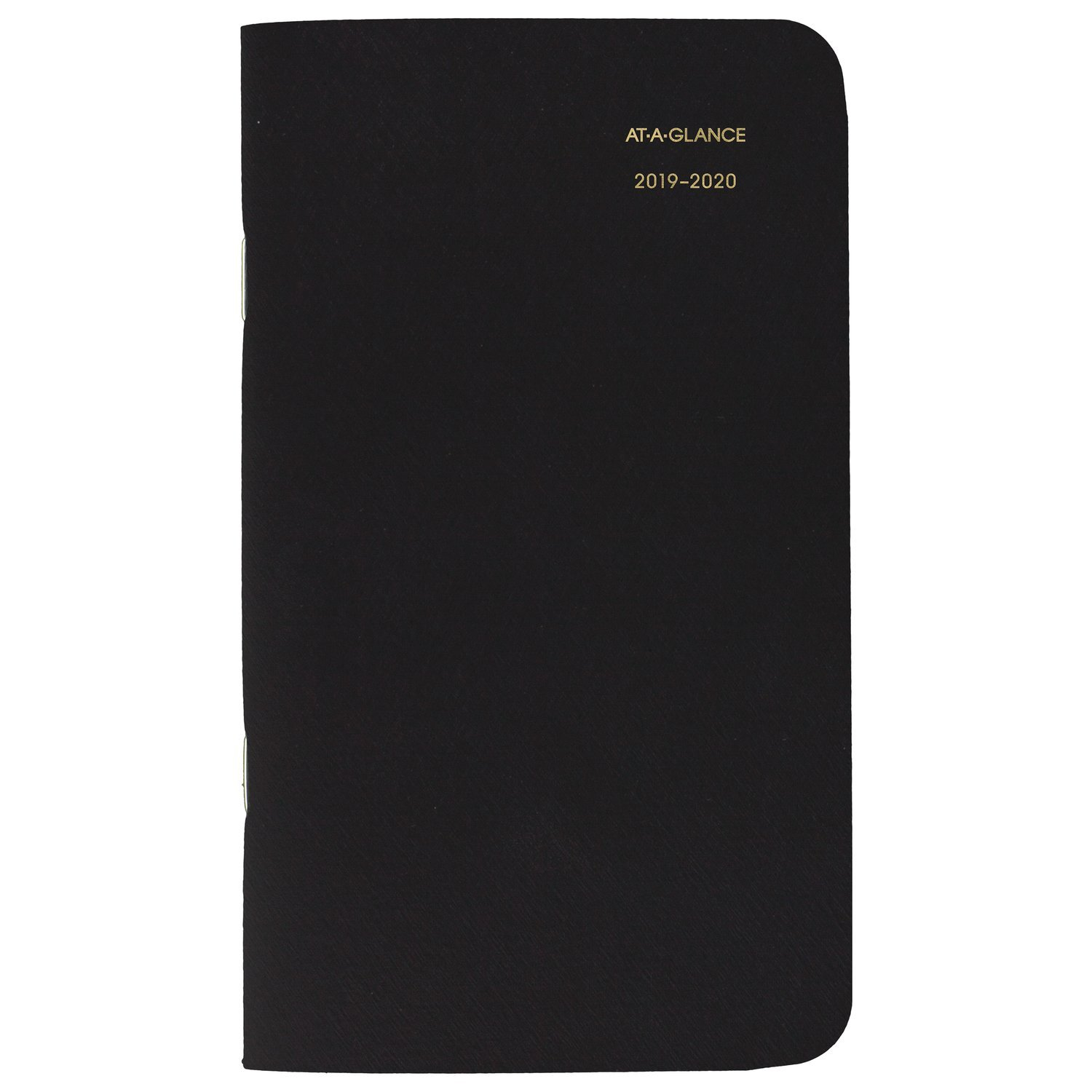 AT-A-GLANCE 2019-2020 Monthly Planner 2 Year, 3-1/2'' x 6'', Pocket, Black (7002405)