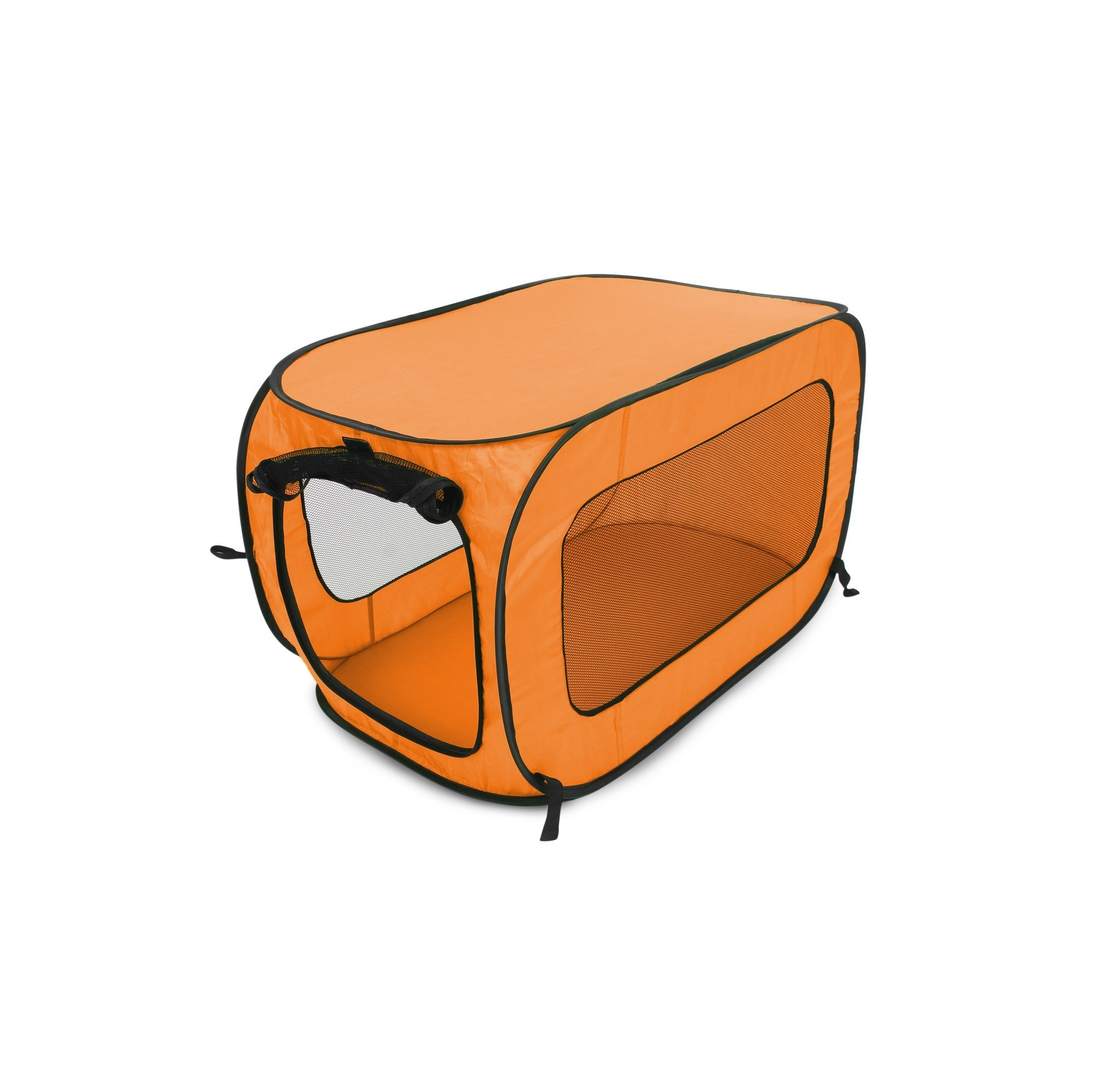 Beatrice Home Fashions SOLPPK00ORG Pop up Pet Kennel Portable Pet Kennel Cage, Orange