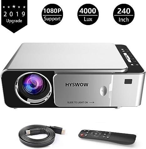 HYSWOW Proyector de vídeo Full HD, Soporte para proyector de Cine ...