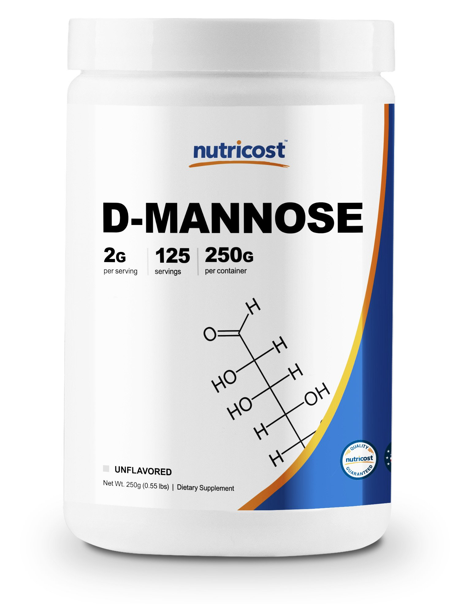 Nutricost D-Mannose Powder 250 GMS, 2g Serving, Non-GMO, Gluten Free by Nutricost