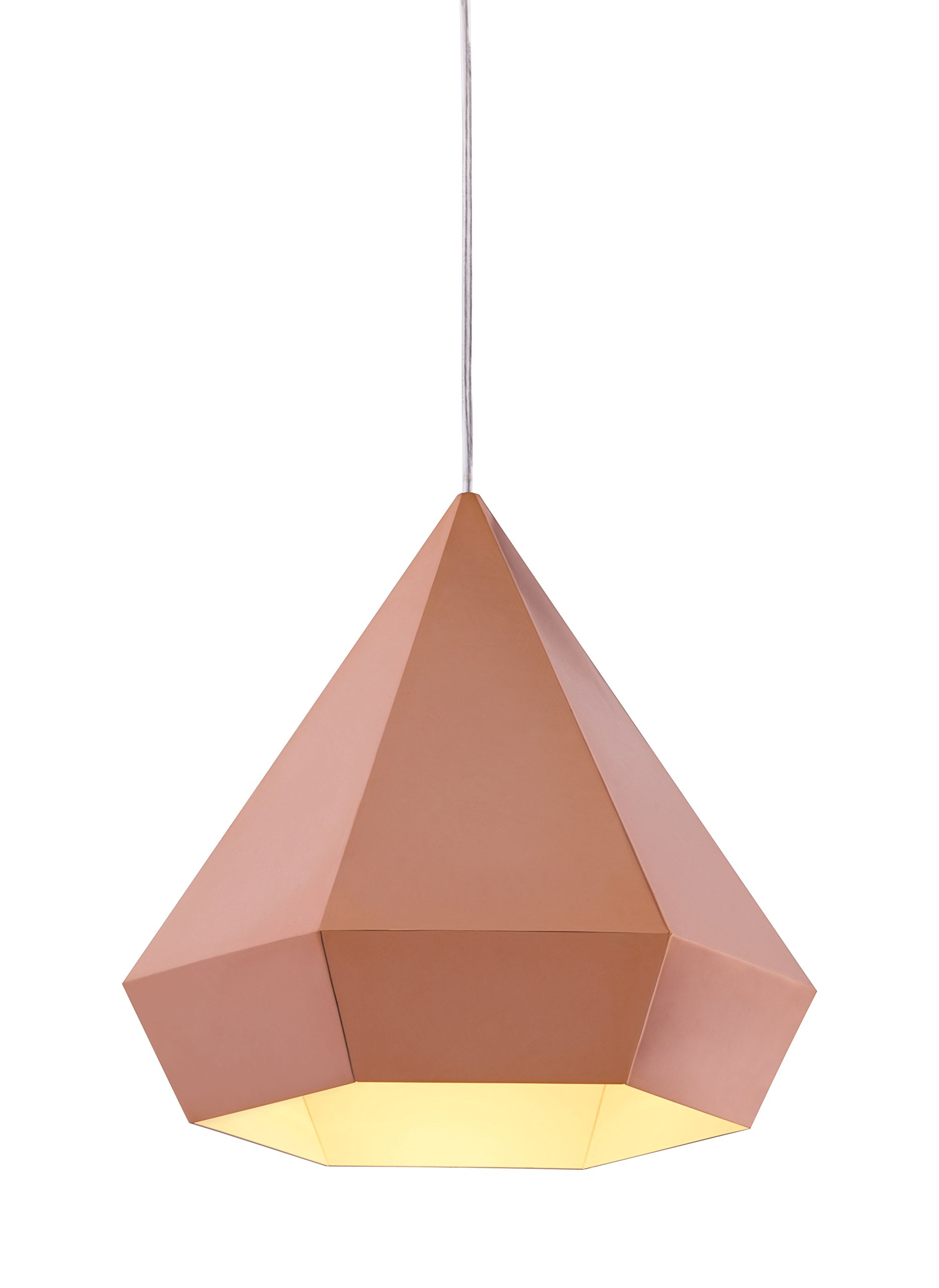 Zuo Forecast Ceiling Lamp, Rose Gold