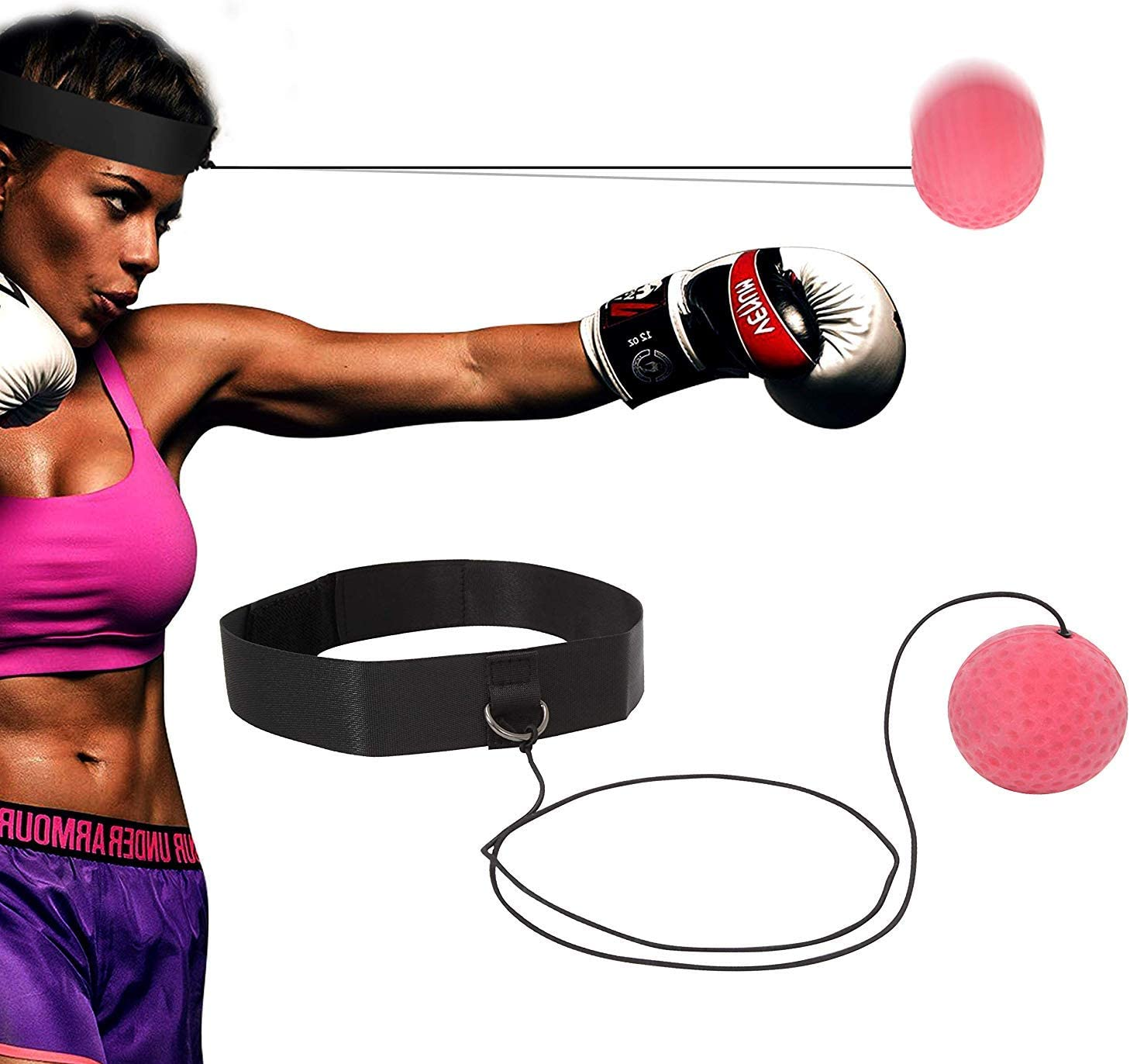 MMA Boxing Fight Ball W//Head Band For Reflex Speed Training Punching Exercise US