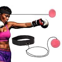 TFHEEY Reflex Punching Ball, Equipo de Boxeo con Cinta Ajustable para niños y Adultos, Bola elástica para la extensión, para Mejorar la Capacidad de Respuesta, Mejorar la Velocidad y precisión